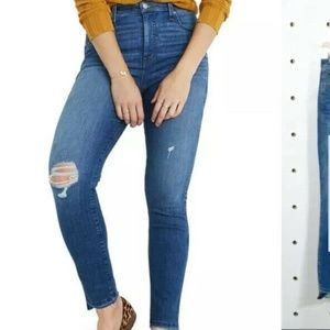 Madewell Jeans Plus 34 Drop Step Hem High Waist